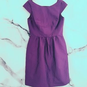 Alfred Sung 12 Satin Dress Plum